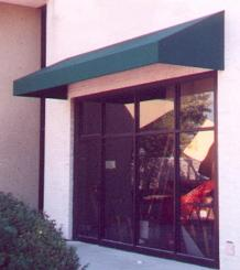 Traditional Sloped Awning with Solid Valance