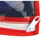 Plastic Flag Case Zipper Closure